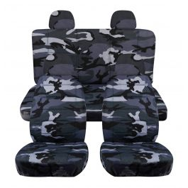 Camo Car Seat Covers W 4 2 Front 2 Rear Headrest Covers