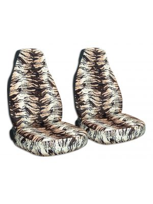 Animal Print Car Seat Covers - Front