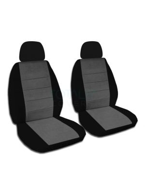 Two-Tone Car Seat Covers with 2 Separate Headrest Covers - Front