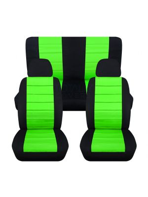 2-Tone Car Seat Covers with 2 Front Headrest Covers - Full Set
