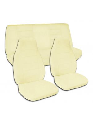 Solid Colour Car Seat Covers - Full Set