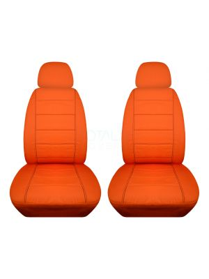 Solid Car Seat Covers with 2 Separate Headrest Covers - Front