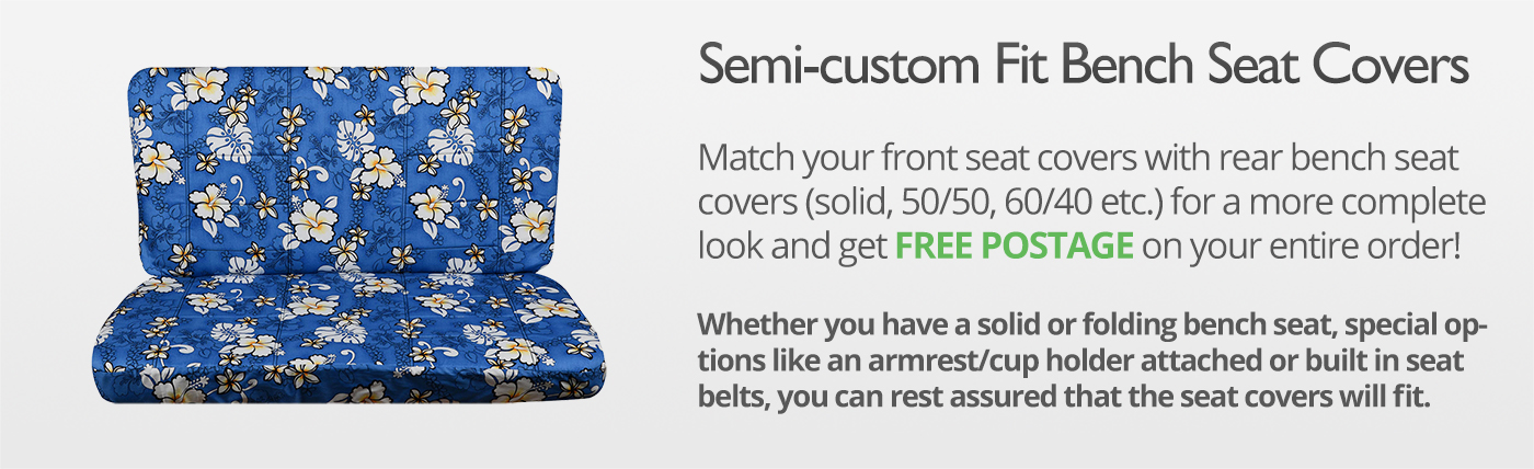 Hawaiian Print Truck Seat Covers