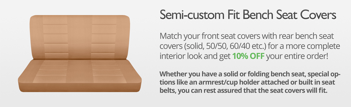 Solid Color Truck Seat Covers