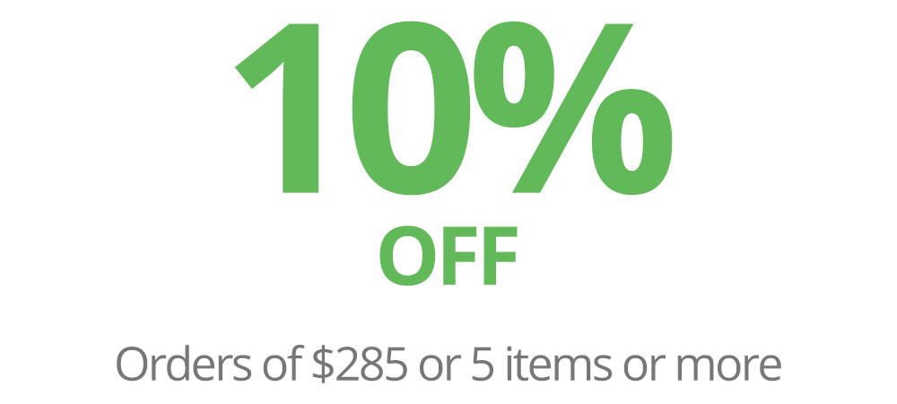 10% OFF on Orders of A$265 or 5 Items or more.