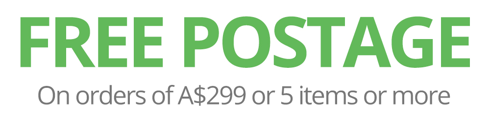 FREE Postage on Orders of A$299 or 5 Items or more.
