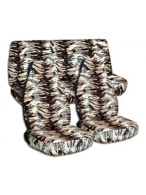 Animal Print Car Seat Covers - Full Set