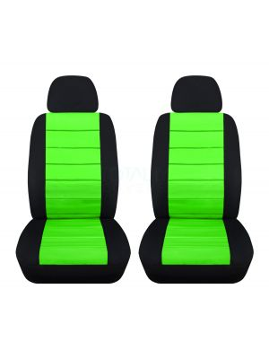 2-Tone Car Seat Covers with 2 Separate Headrest Covers - Front