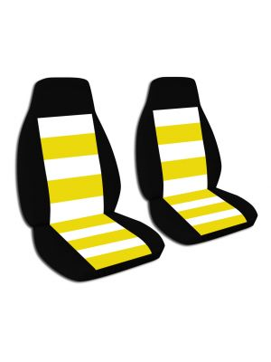 Striped Car Seat Covers - Front