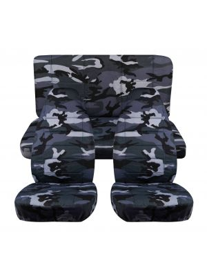 Camouflage Car Seat Covers - Full Set