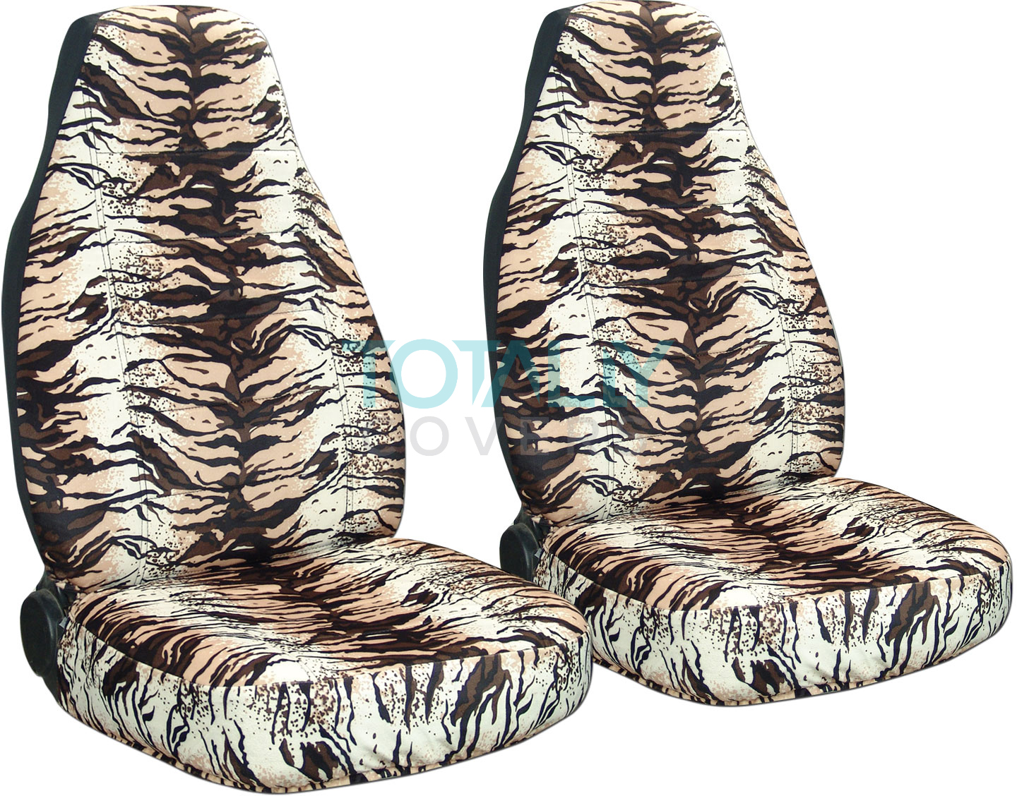 Animal Print Car Seat Covers Front Semi Custom Zebra