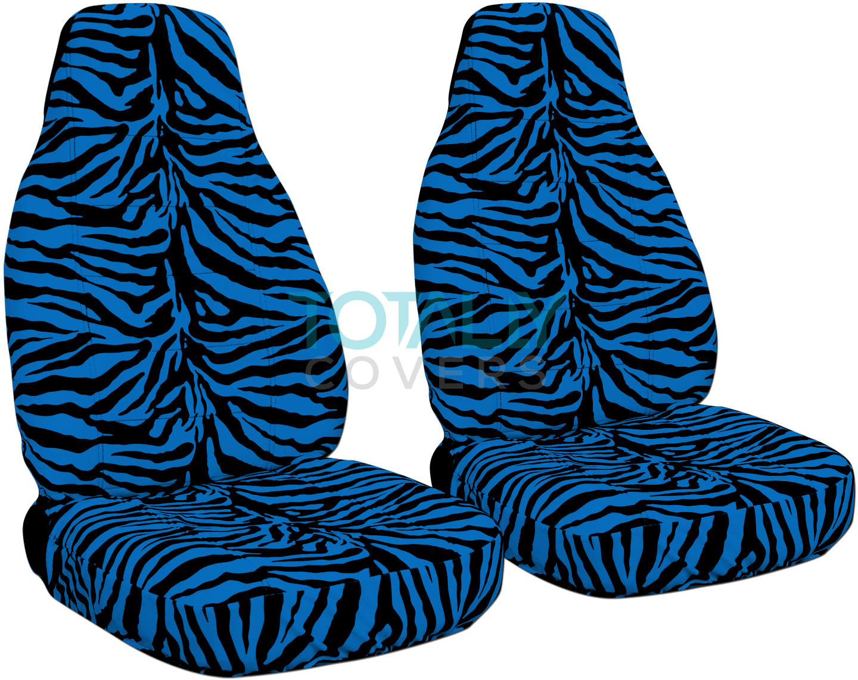 Animal Print Car Seat Covers Front Semi Custom Zebra