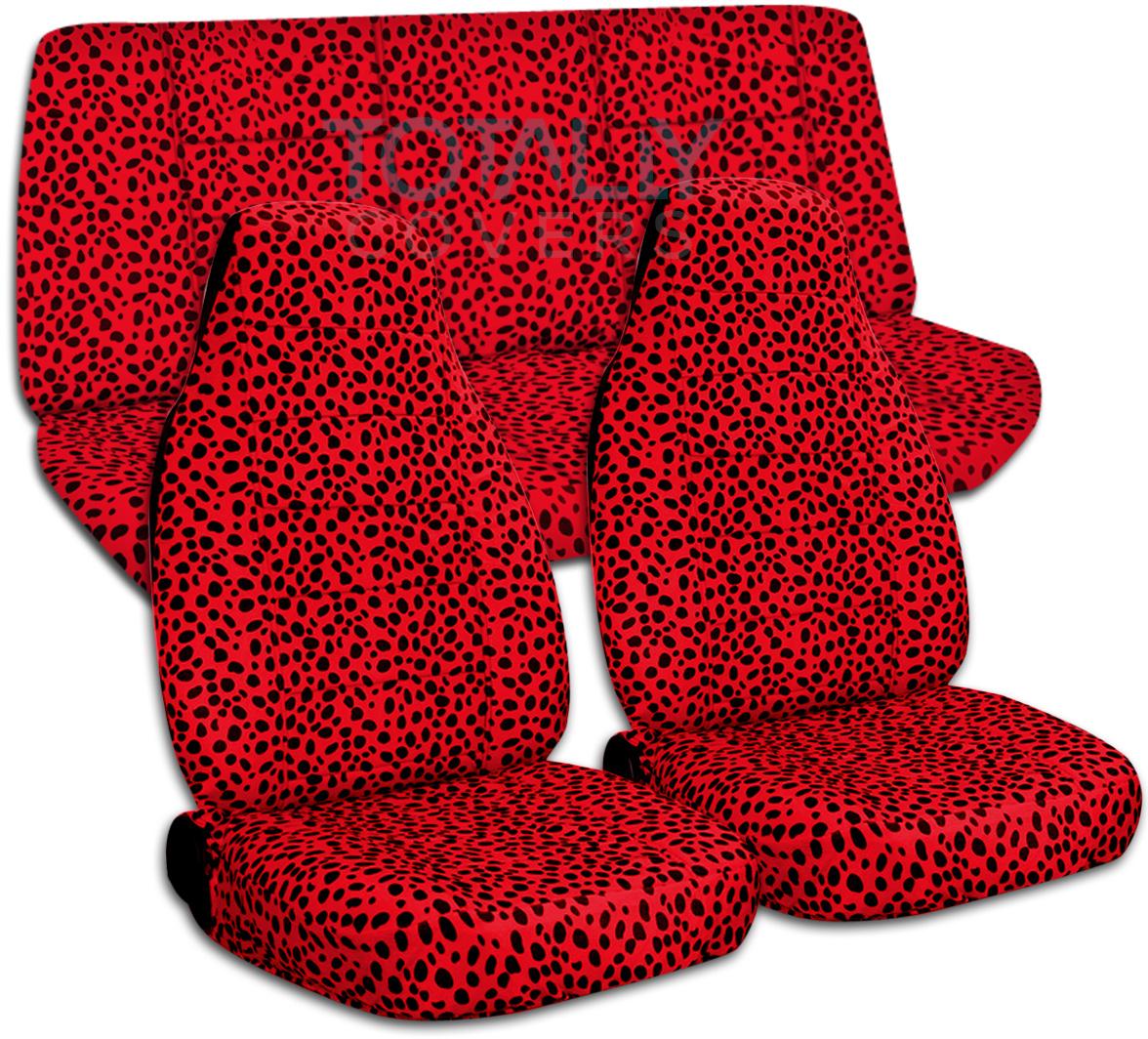 Animal Print Car Seat Covers (Full Set, Semi-custom) Ze/Cow ...