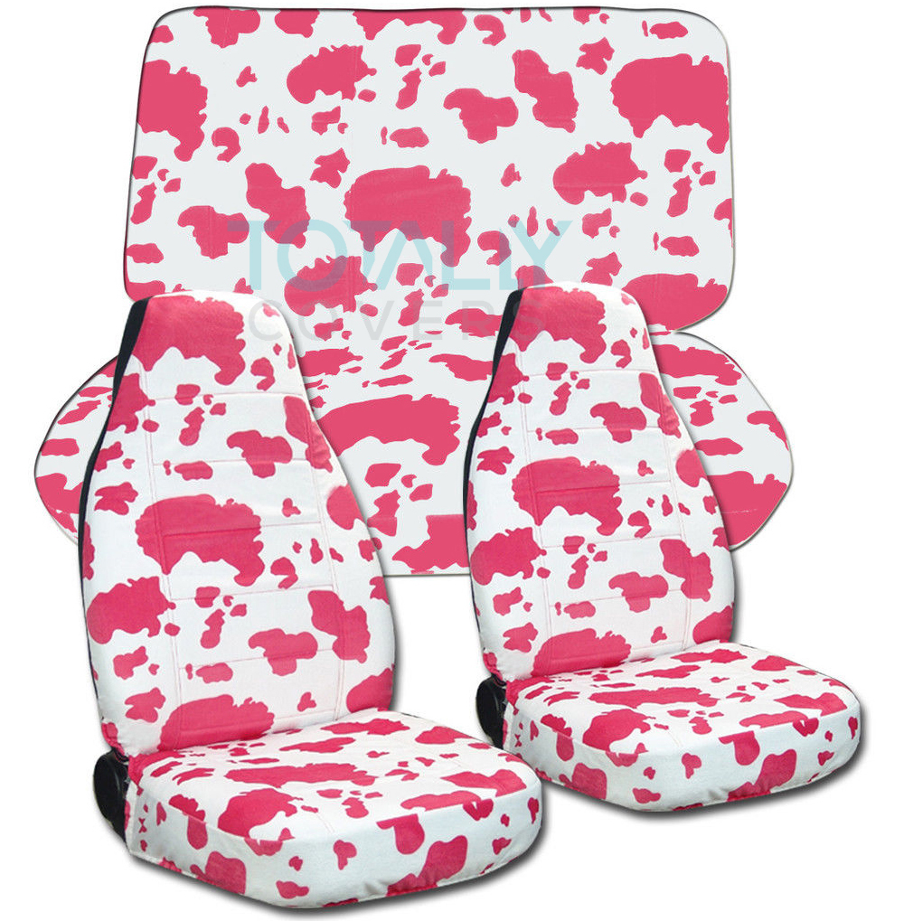Animal Print Car Seat Covers Full Set Semi Custom Zebra