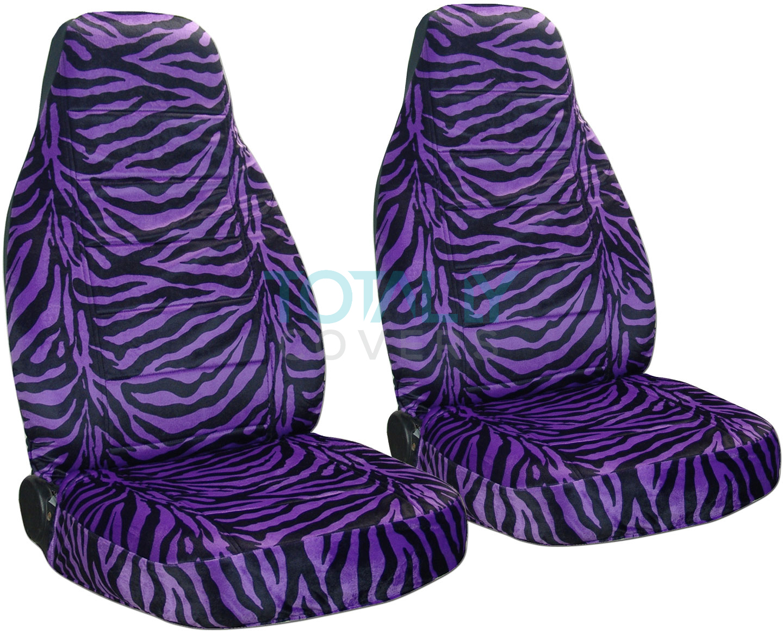 Purple Zebra Print Car Seat Covers