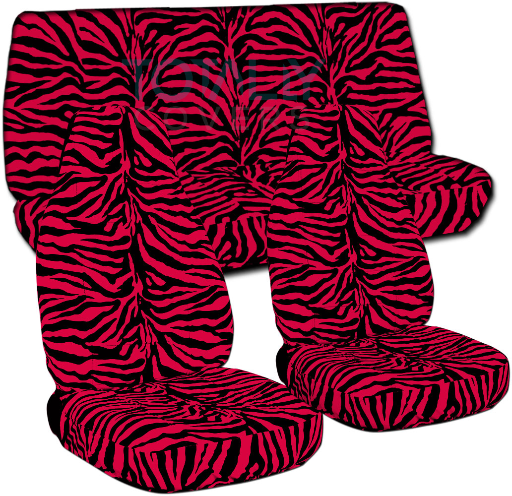 Animal Print Car Seat Covers (Full Set, Semi-custom) Zebra