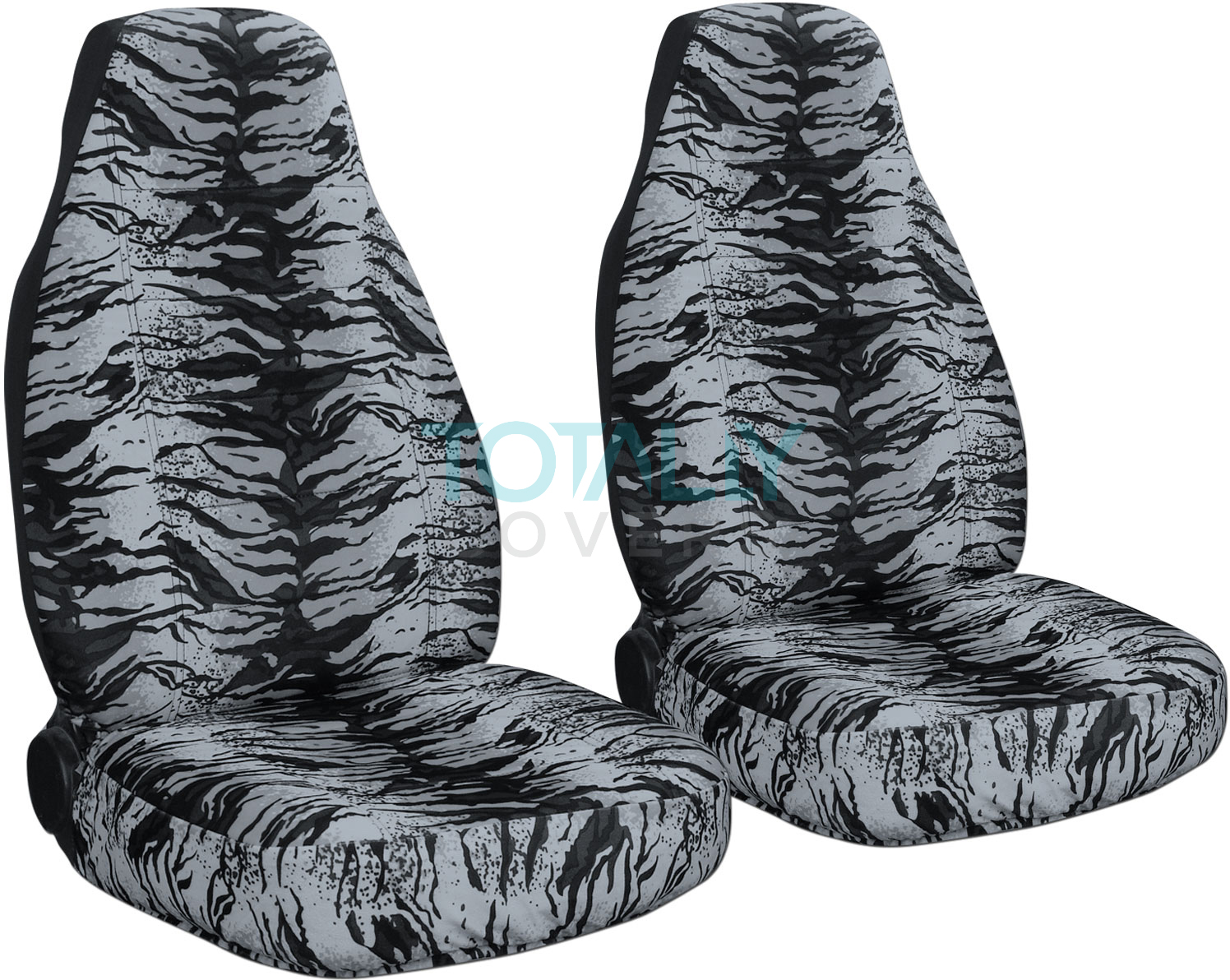 Silver Snow Tiger Car Seat Covers