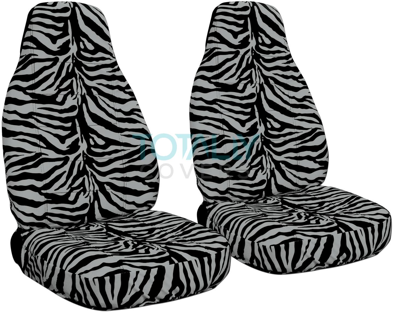 Silver Zebra Car Seat Covers