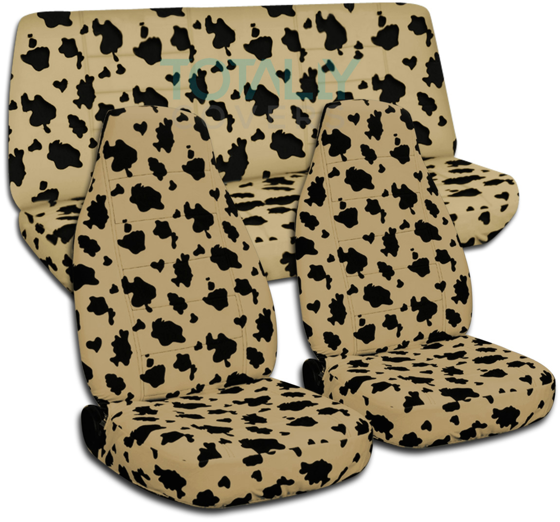 Animal Print Seat Covers Cow Seat Covers Cheetah Seat