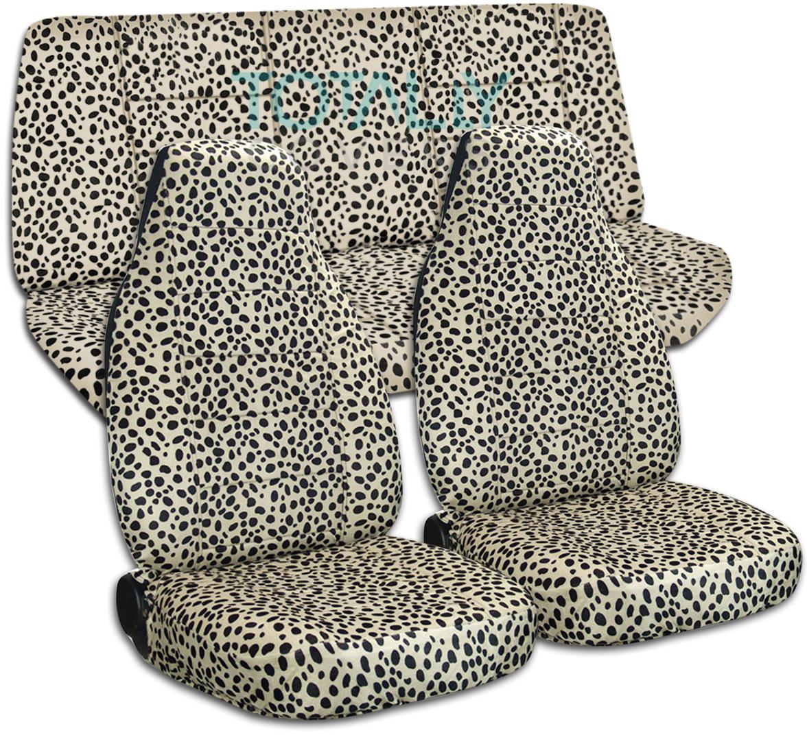 Animal Print Car Seat Covers Full Set Semi Custom Zebra