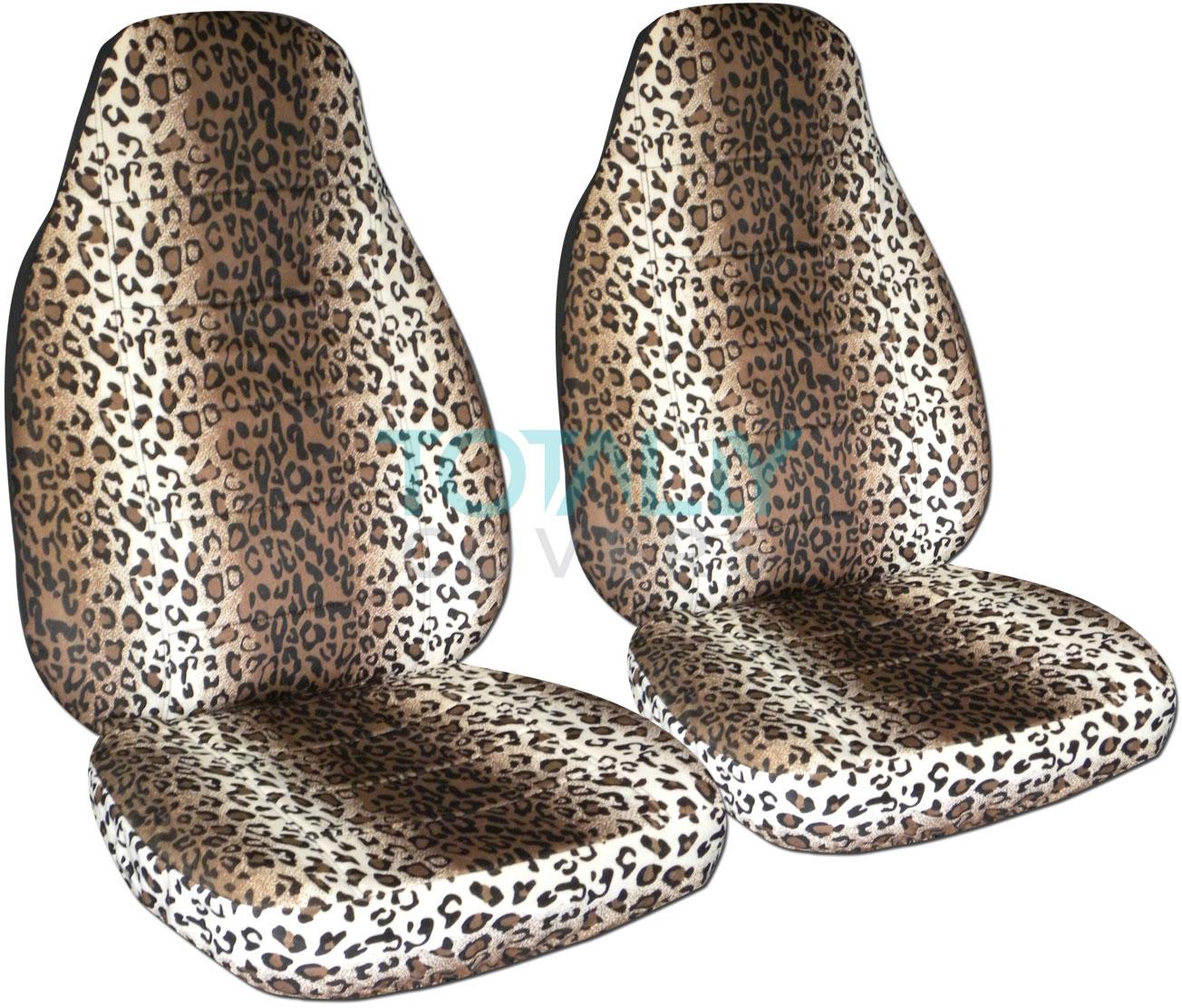 Leopard Print Car Seats Covers