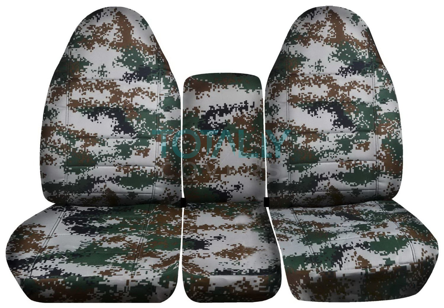 1994 2002 dodge ram 40 20 40 camo truck seat covers console armrest split bench. Black Bedroom Furniture Sets. Home Design Ideas