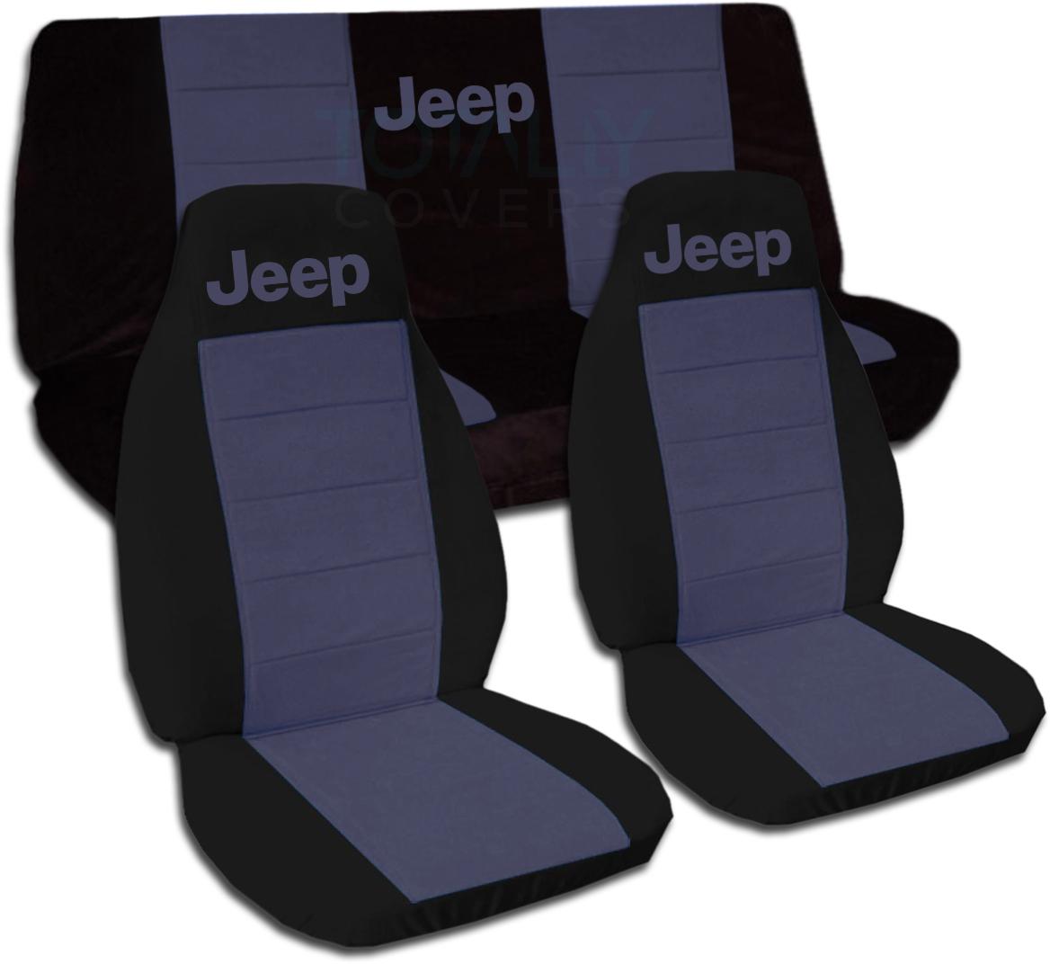 Jeep Wrangler Yj Tj Jk 1987 2018 Two Tone Seat Covers W