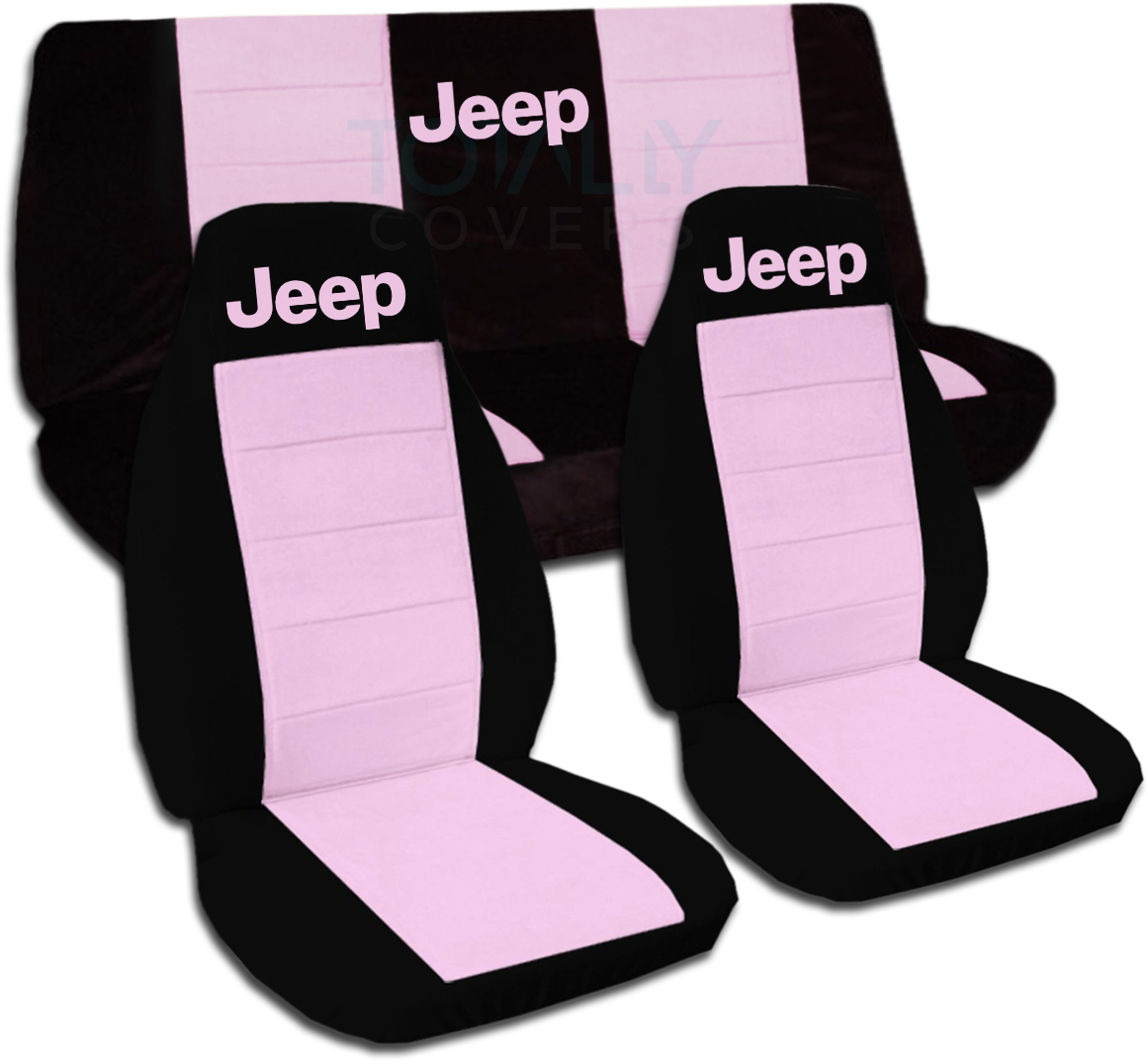 Jeep Wrangler Yj Tj Jk Jl 1987 2019 Two Tone Seat Covers W