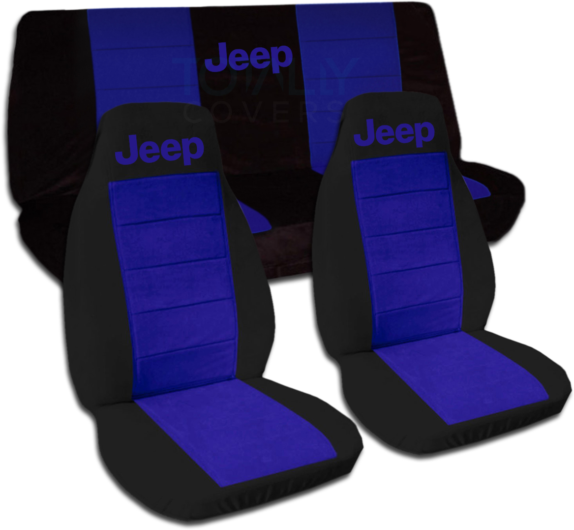 Car Seat Covers Black And Blue