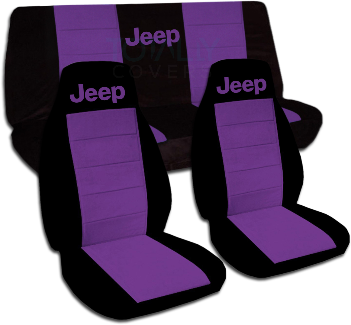 Jeep Wrangler YJ TJ JK 1987 2017 Two Tone Seat Covers W