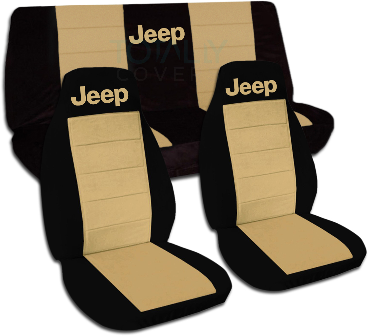 Jeep Wrangler Black U0026 Tan Car Seat Covers ...