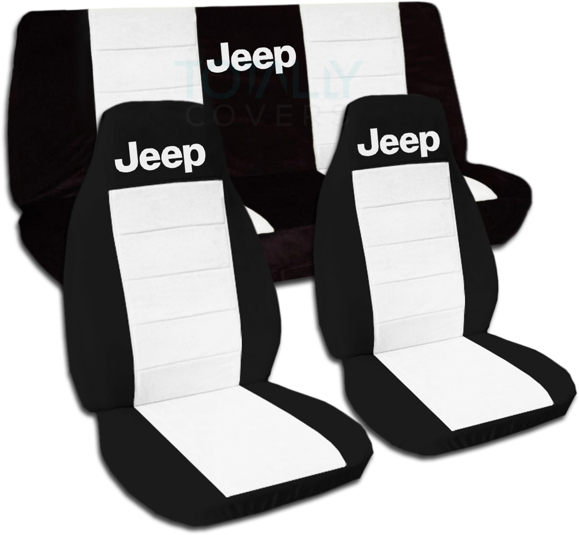 Jeep Wrangler YJ TJ JK 1987 To 2015 Two Tone Seat Covers