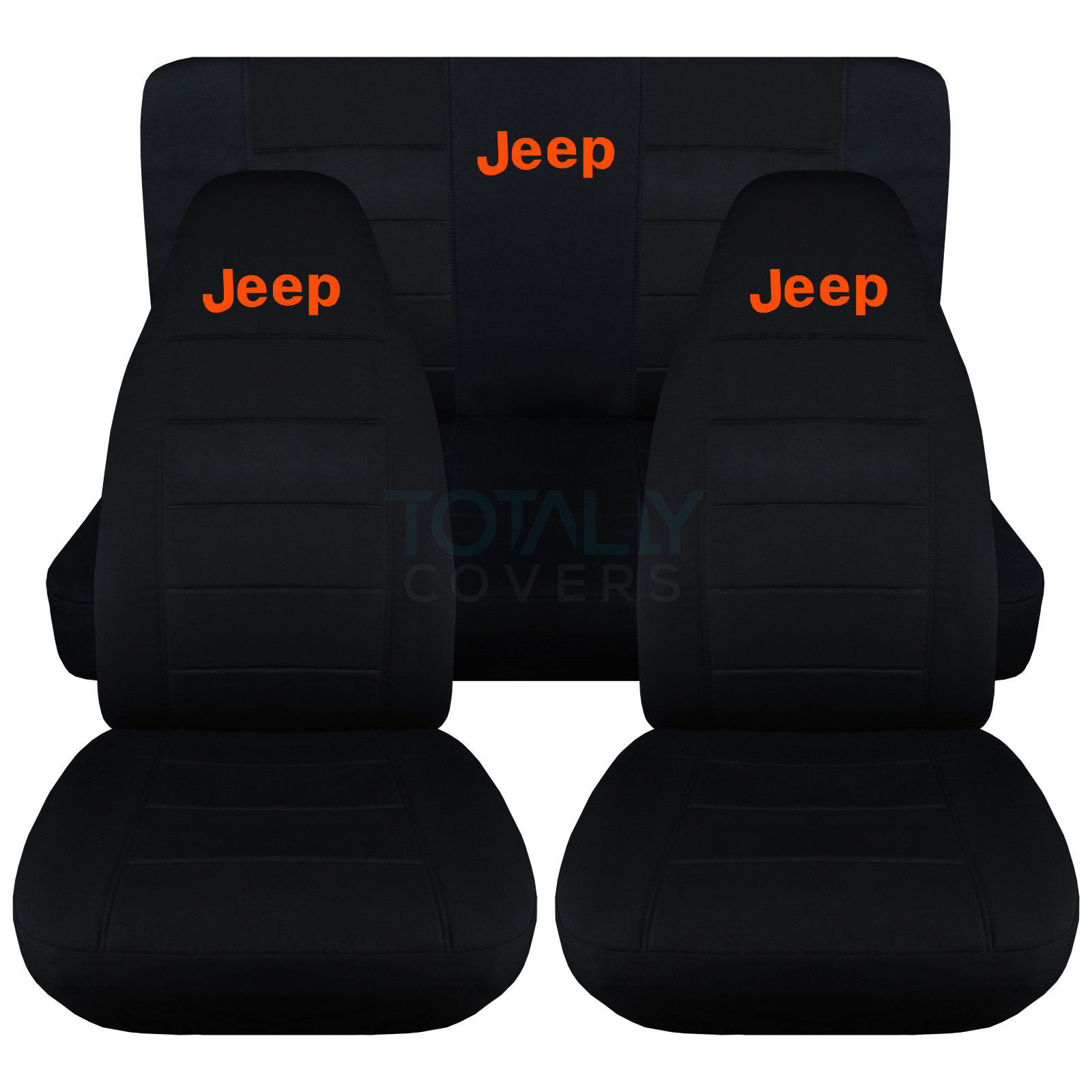 Jeep Wrangler YJ/TJ/JK 1987-2017 Black Seat Covers w Logo ...