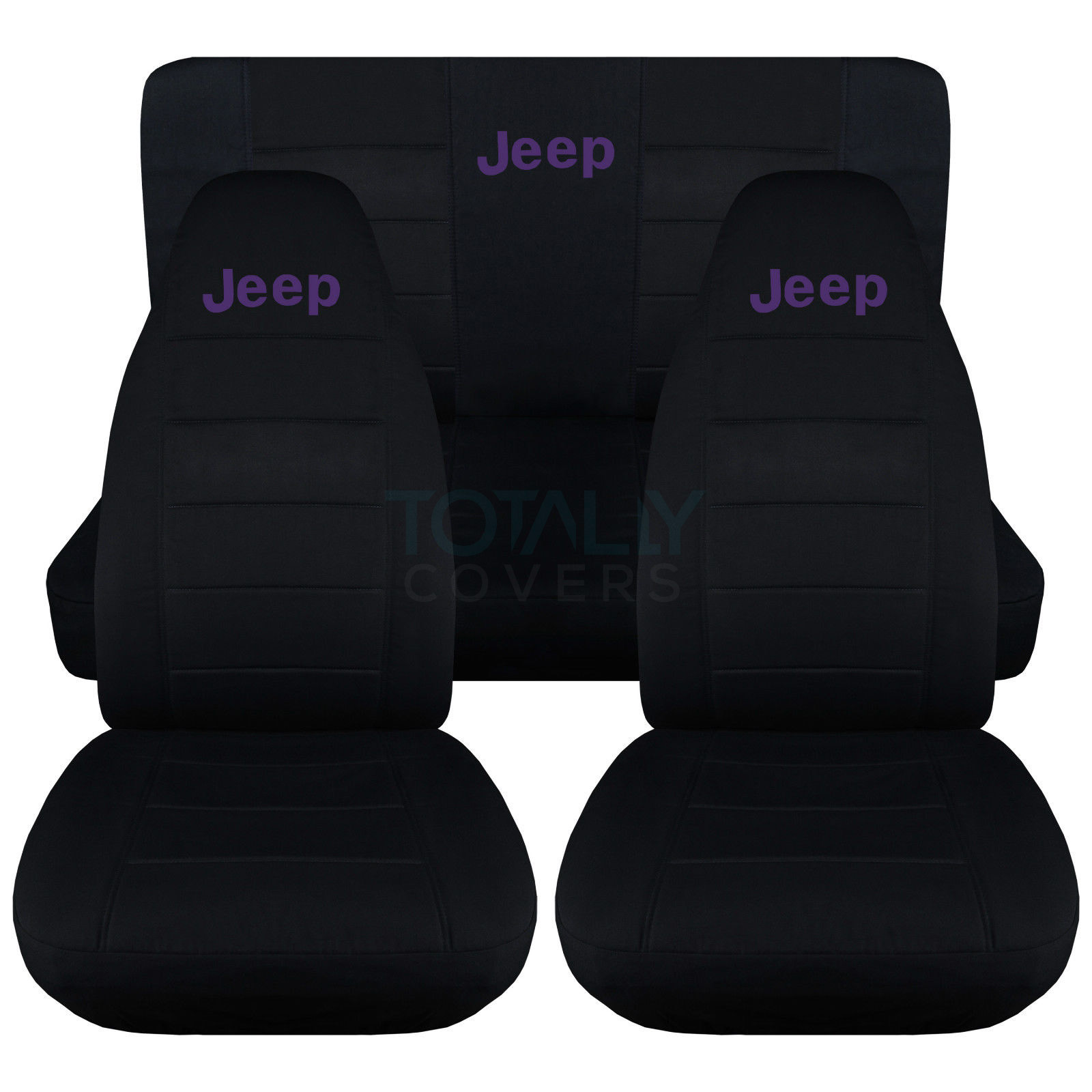 Jeep Wrangler Yj Tj Jk 1987 2017 Black Seat Covers W Logo
