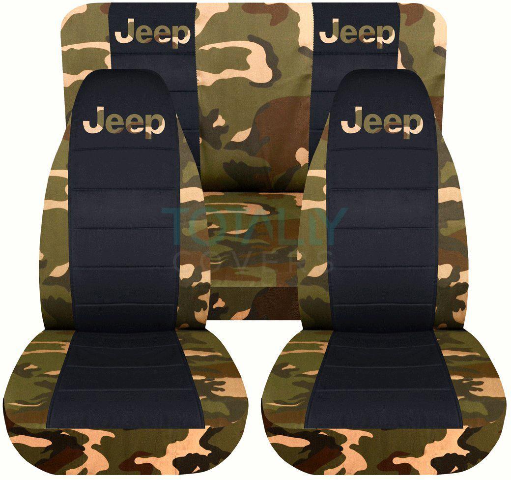 Jeep Wrangler Yj Tj Jk Jl 1987 2019 Camo Amp Black Seat