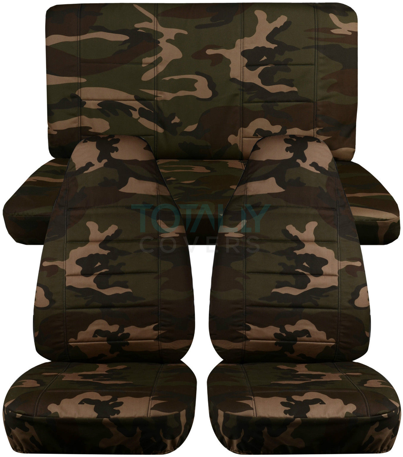 Jeep Wrangler Yj Tj Jk 1987 2017 Camo Seat Covers Front Amp Rear Full Set 2 4 Door Ebay