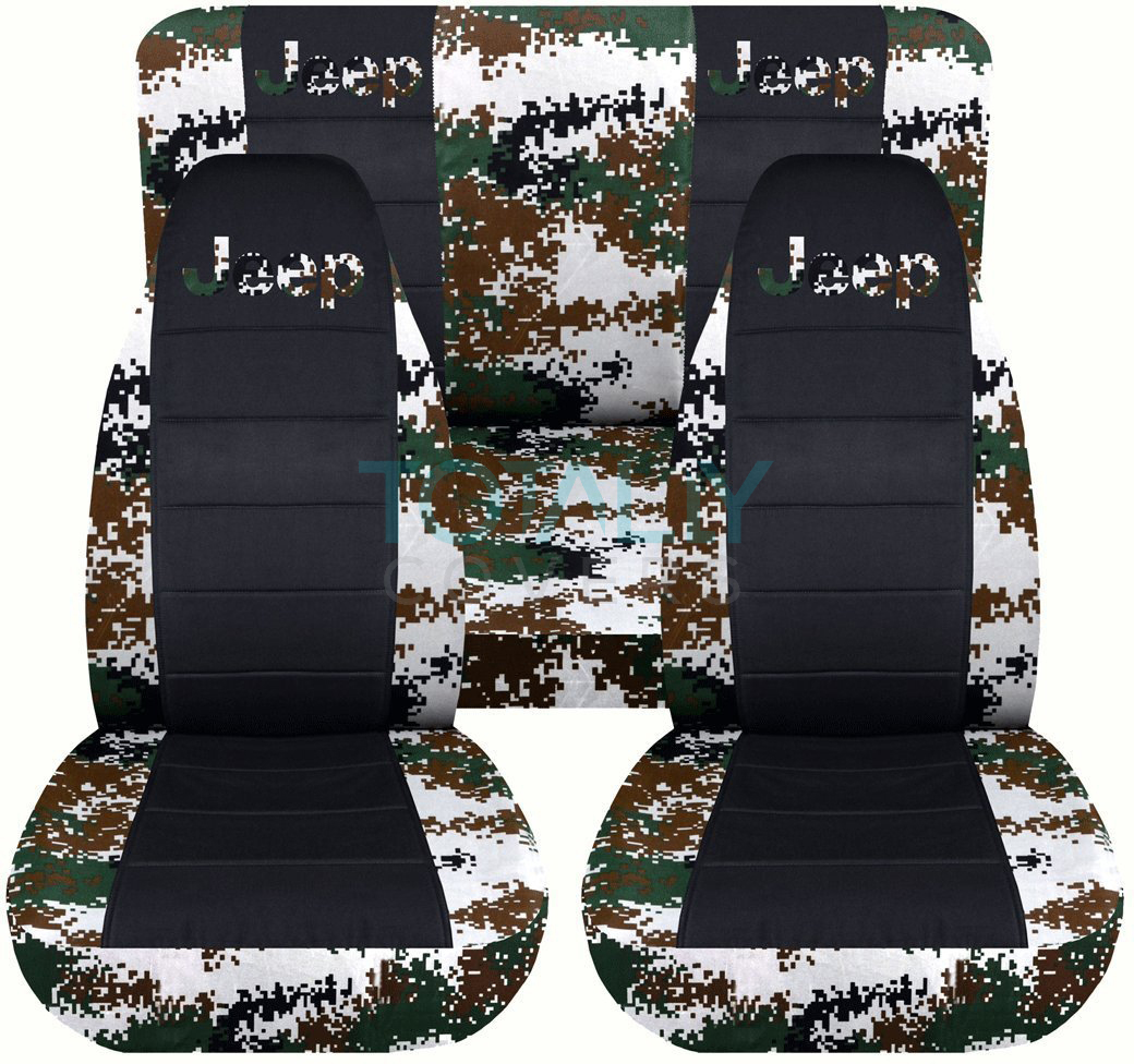 Jeep Wrangler Yj Tj Jk 1987 2018 Camo Amp Black Seat Covers