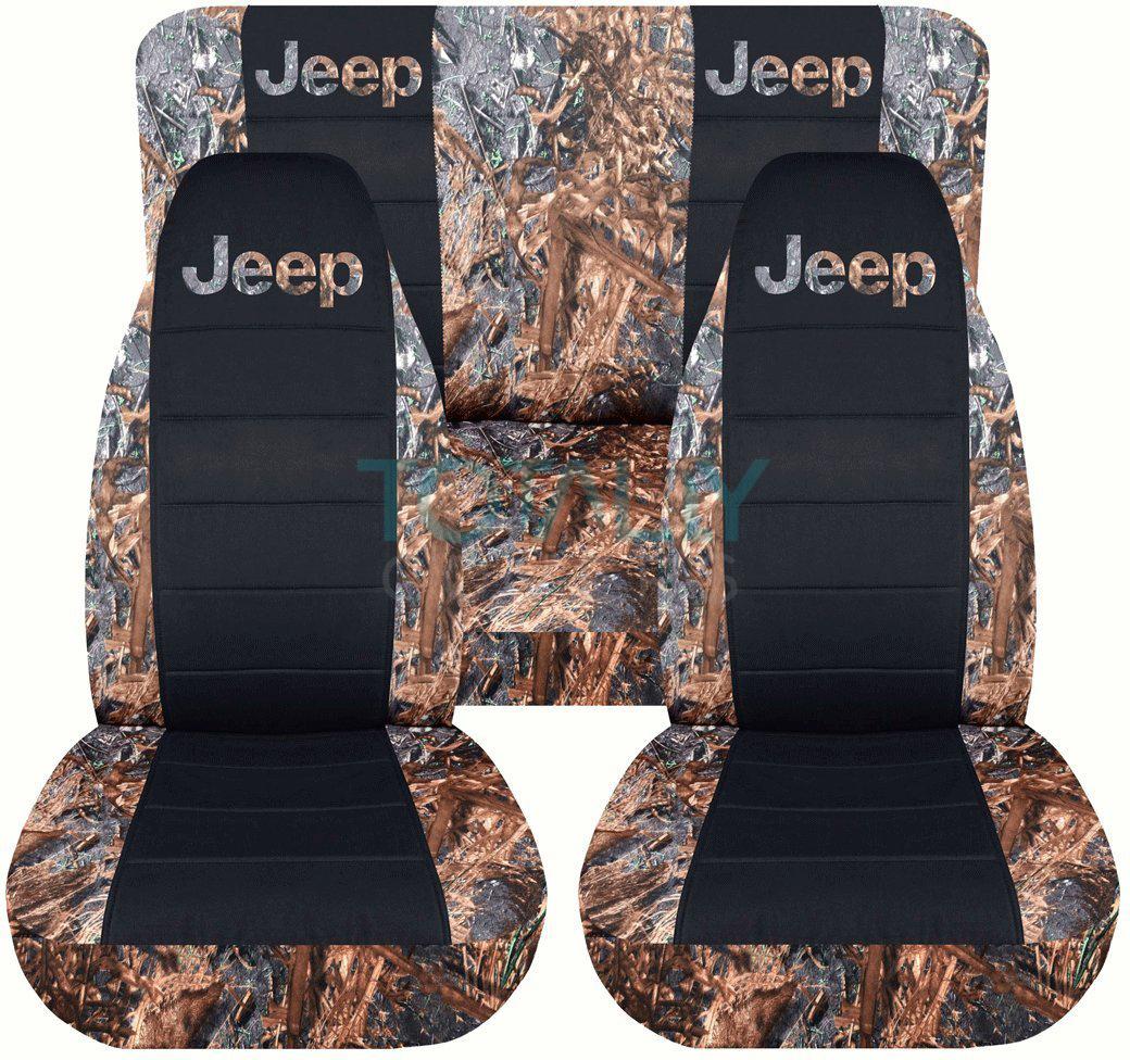 Jeep Wrangler Yj Tj Jk 1987 2017 Camo Amp Black Seat Covers