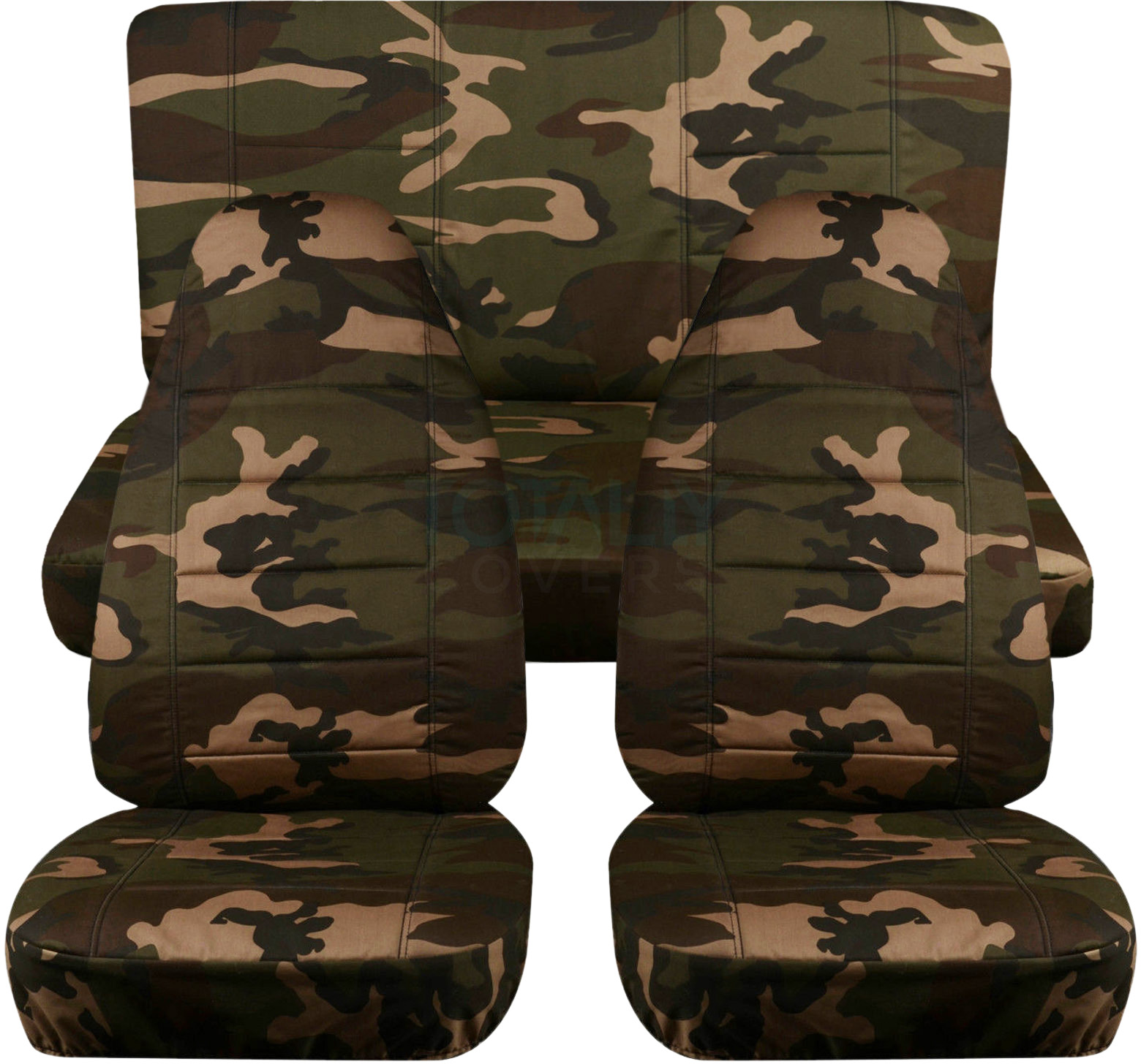 Brown And Green Camo Car Seat Covers