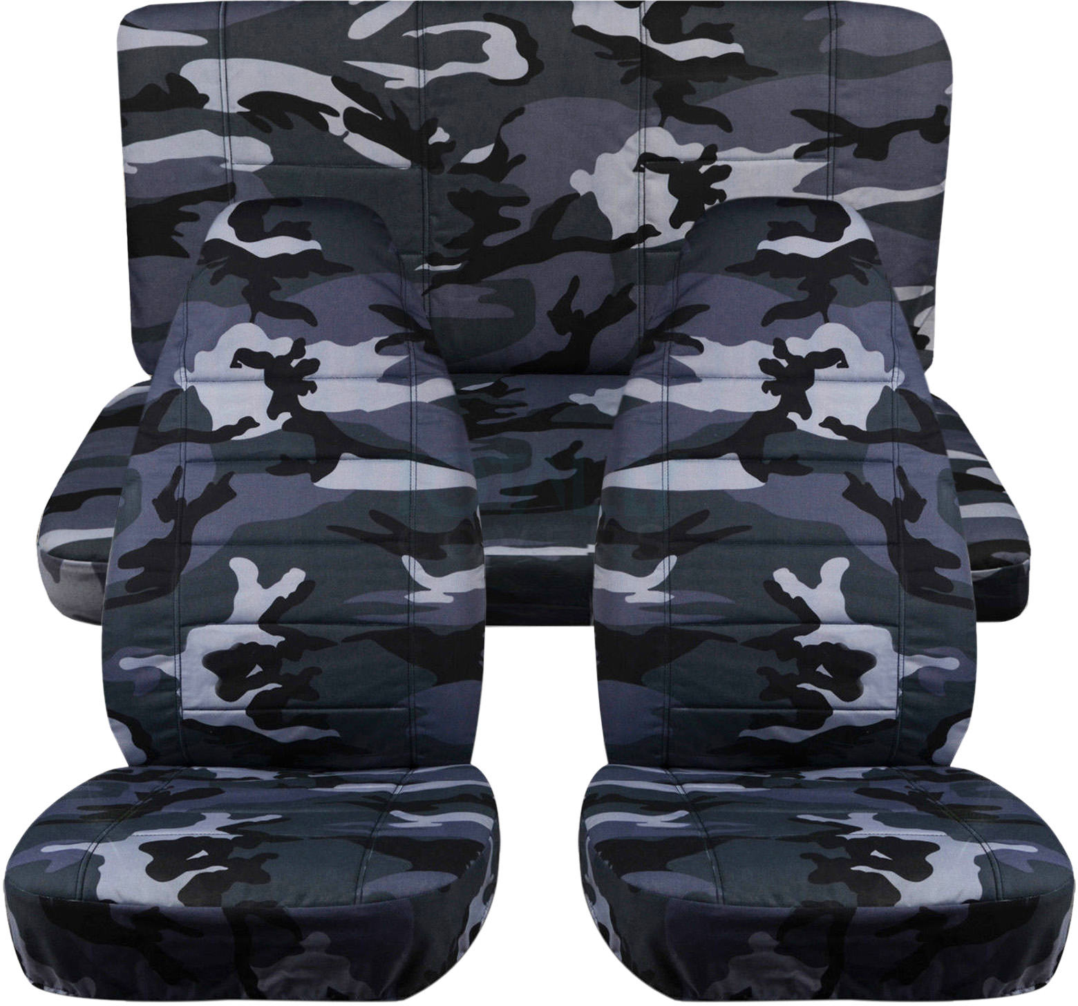 Camouflage Car Seat Covers Full Set Semi Custom Tree