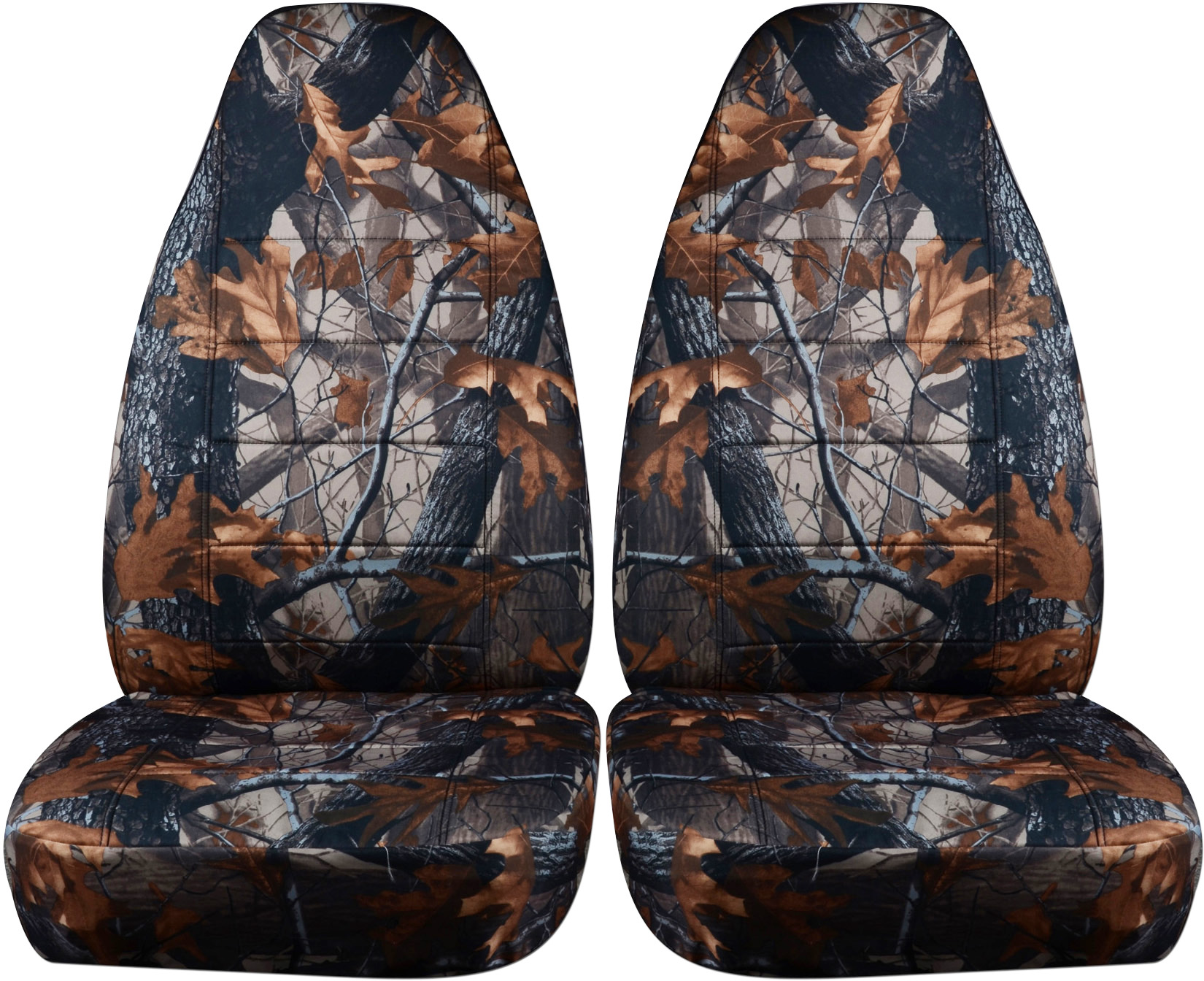 Camouflage Car Seat Covers Front Semi Custom Tree Digital Army