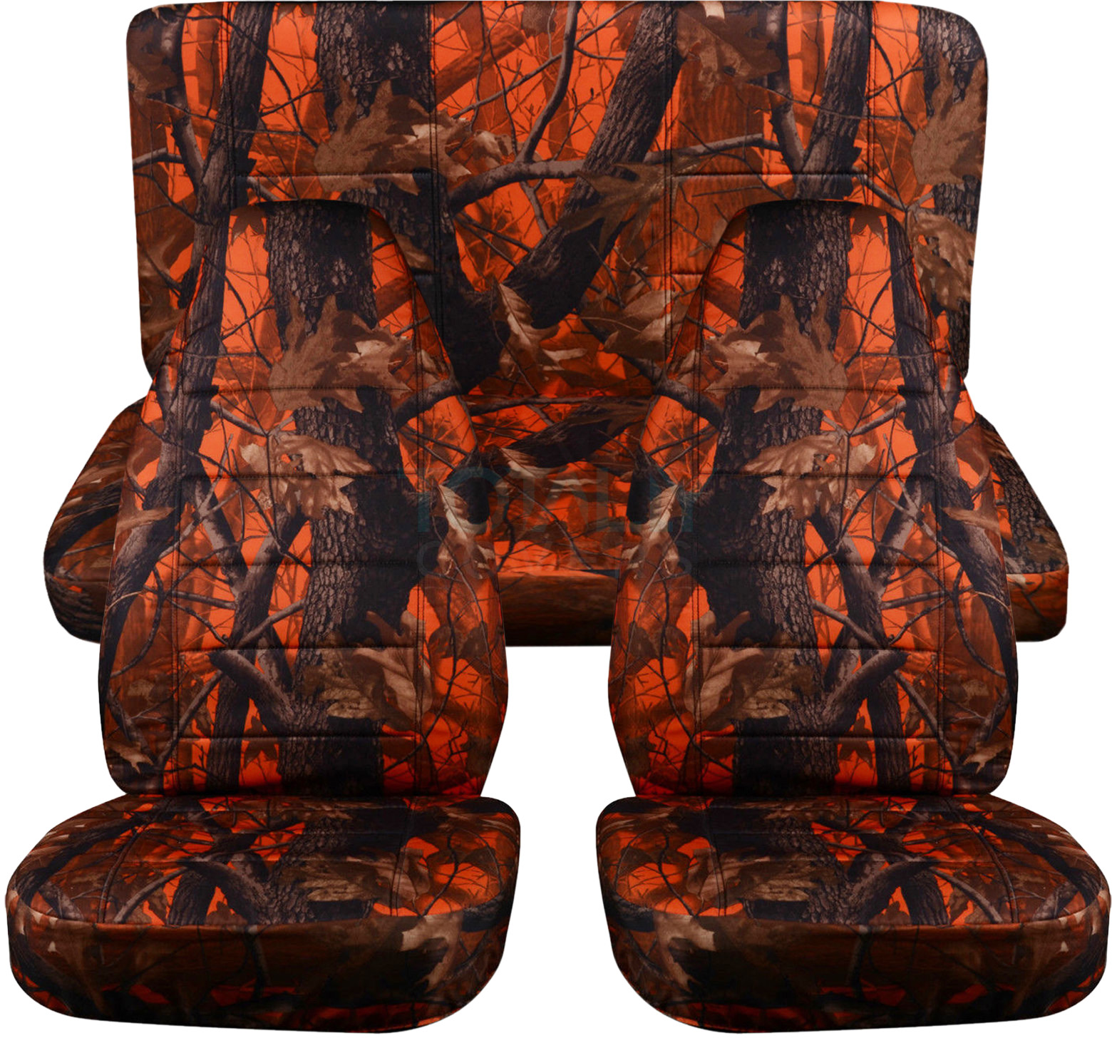 Camouflage Car Seat Covers Full Set Semi Custom Tree Digital 16 Camo Prints Ebay