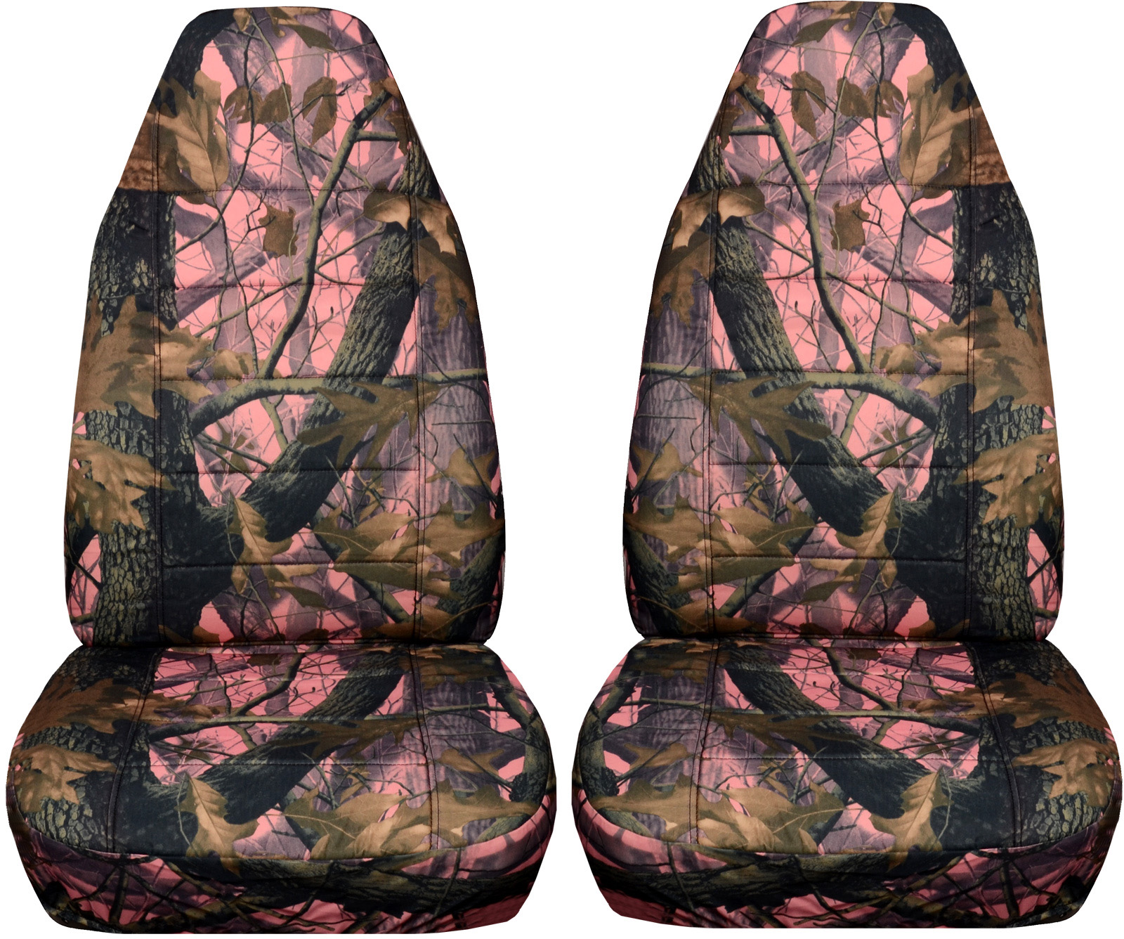Camouflage Car Seat Covers Front Semi Custom Tree