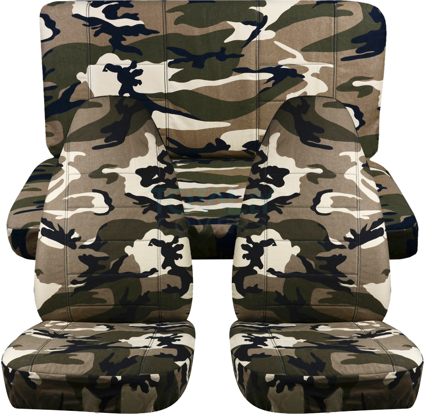 Tan And Beige Camo Car Seat Covers