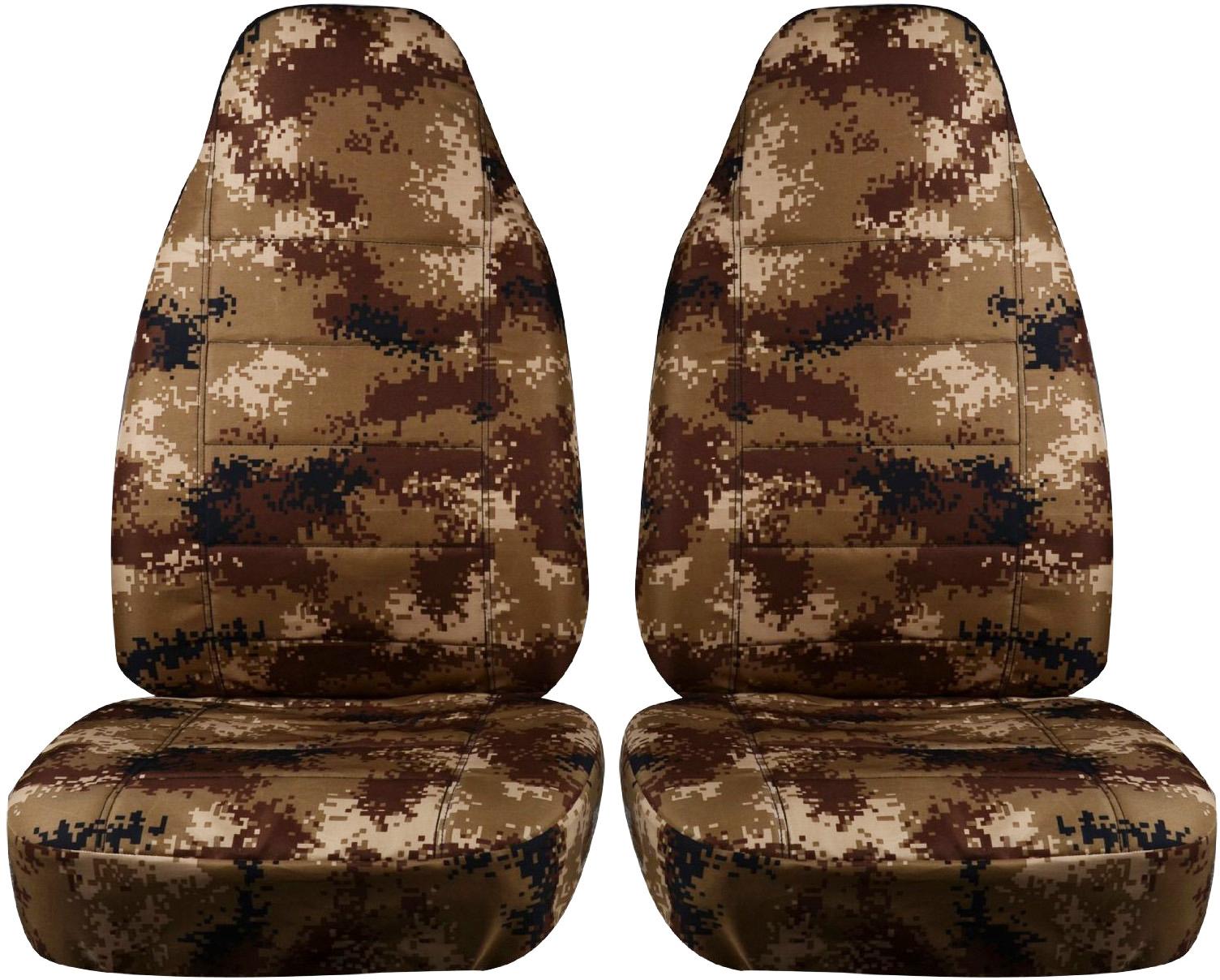 Tan Digital Camo Car Seat Covers