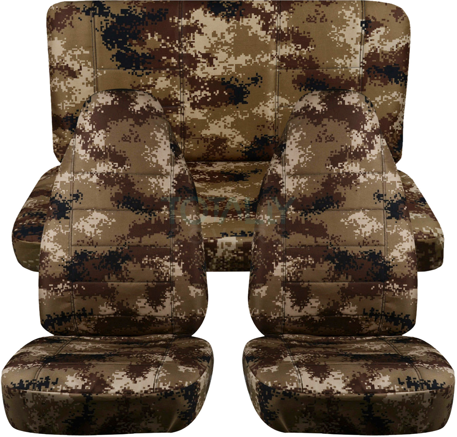 Camouflage Car Seat Covers Full Set Semi Custom Tree