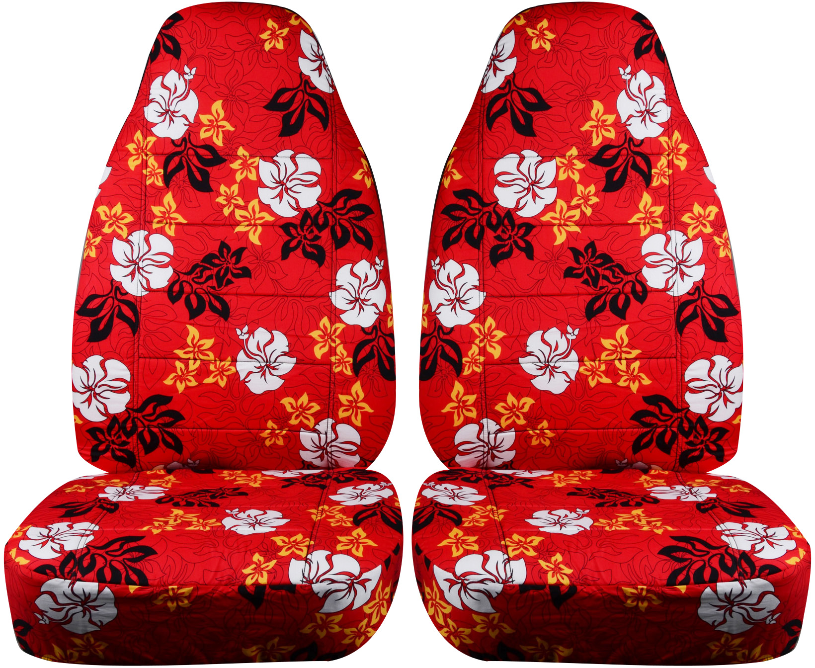 Hawaiian print car seat covers front semi custom blueredyellow red hawaiian car seat covers izmirmasajfo