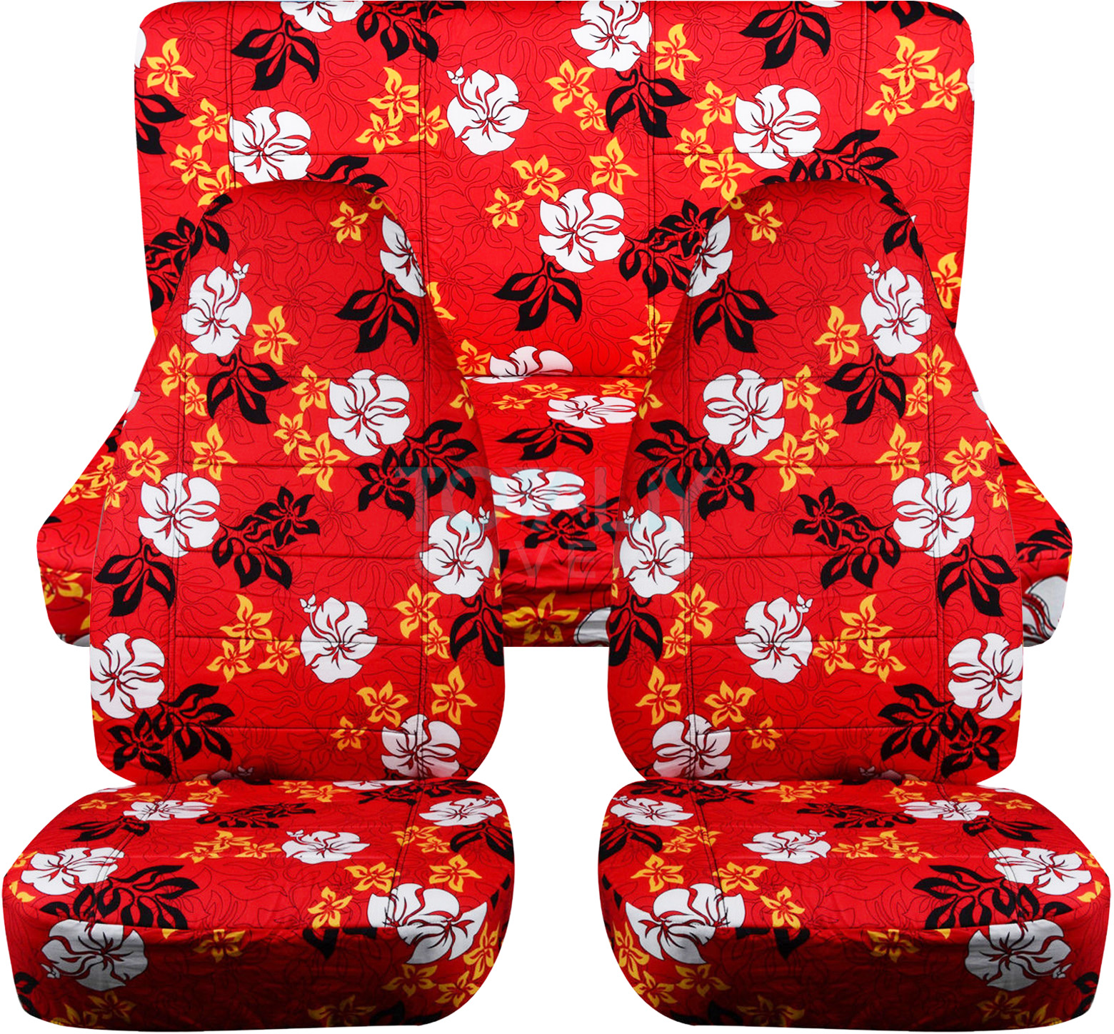 Hawaiian print car seat covers full set semi custom bluered red hawaiian car seat covers izmirmasajfo