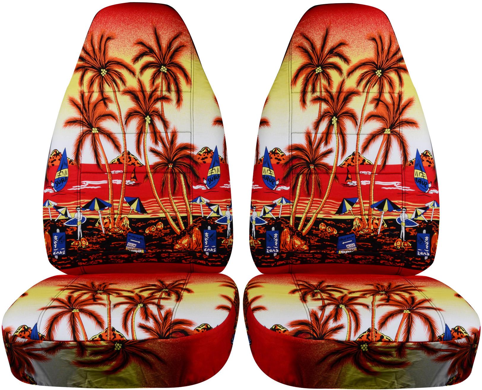 Hawaiian Pattern Car Seat Covers