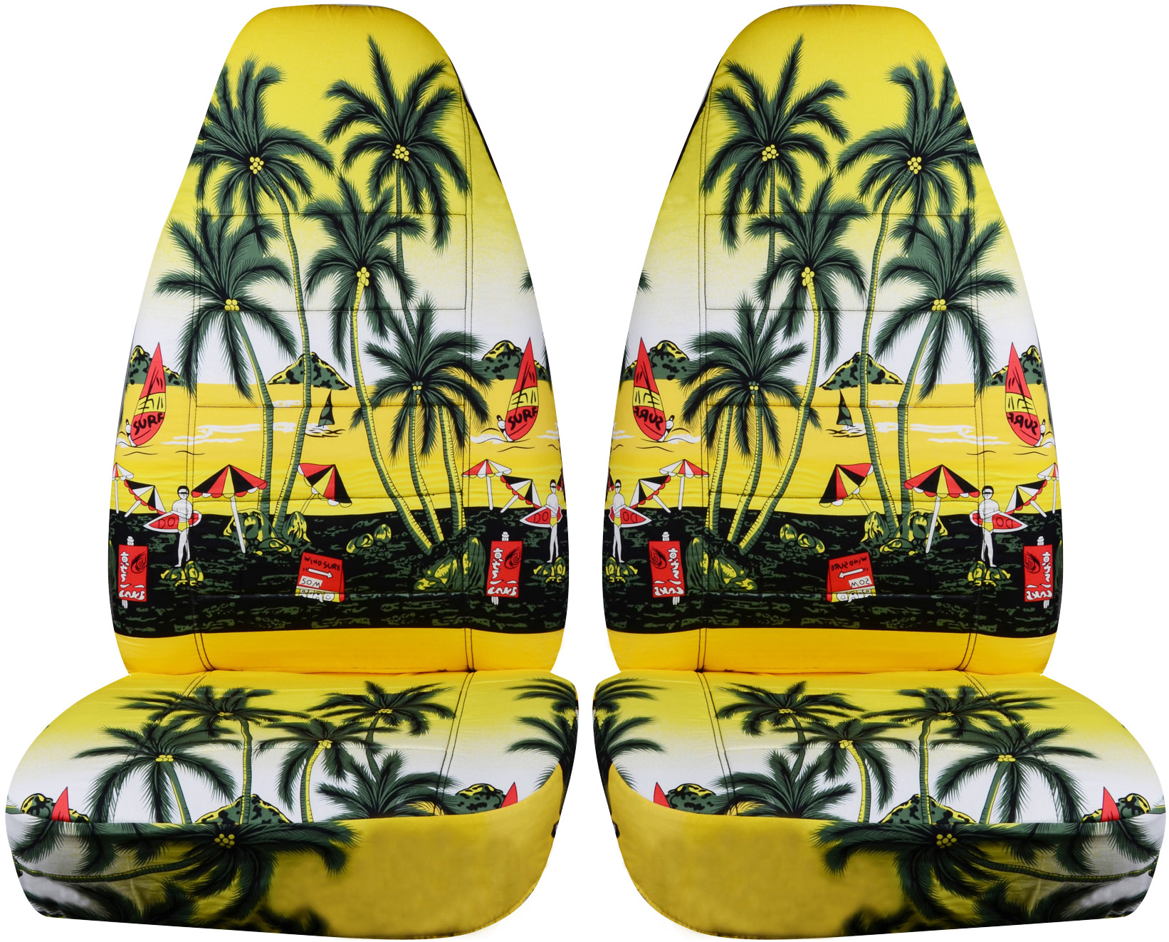 Hawaiian print car seat covers front semi custom blueredyellow yellow w palm tree hawaiian car seat covers izmirmasajfo